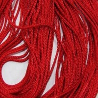 2мм Нитяная штора Espocada однотонная 900-35 красная