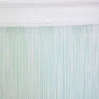1мм Нитяная штора однотонная белая  2.85м
