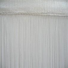 Кисея шторы однотонные нити белые (1)