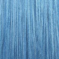 Кисея шторы однотонные нити голубые (11)