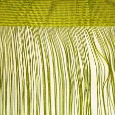 Кисея шторы однотонные нити оливковые (19)