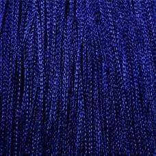 Кисея шторы однотонные нити синие (208)