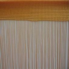 Кисея шторы однотонные нити оранжевые (3)
