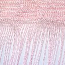 Кисея шторы однотонные нити розовые (5)