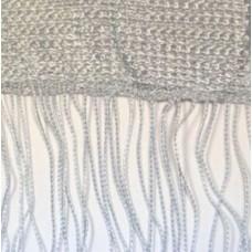 Кисея шторы однотонные нити стальные (7)