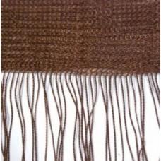 Кисея шторы однотонные нити коричневые (8)