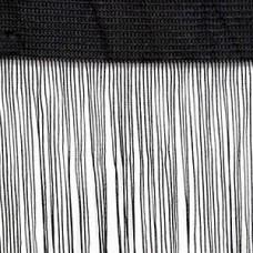 Кисея шторы однотонные нити черные (9)