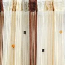 Кисея штора радуга с квадратами 107